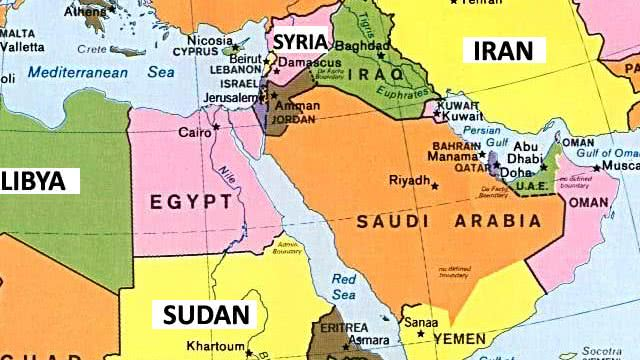 Image Gallery of Middle East Map Countries And Capitals