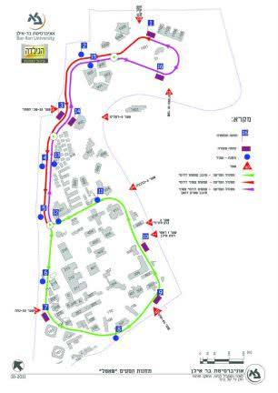BIU Shuttle Map