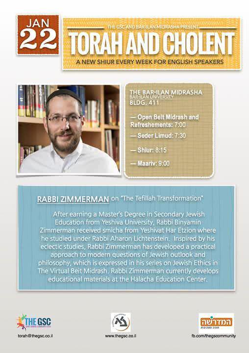 Torah & Cholent: Rav Zimmerman 1