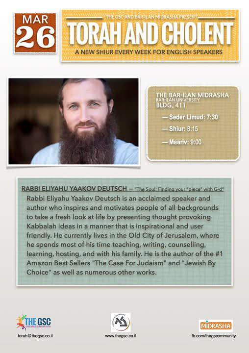 Torah & Cholent: Rabbi Eli Deutsch 1