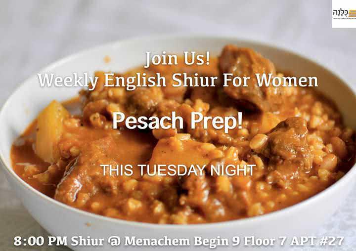 Weekly English Shiur for Women! 1