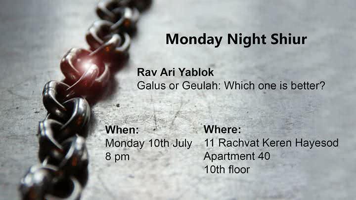 Monday Night Shiur with Rav Ari! 1
