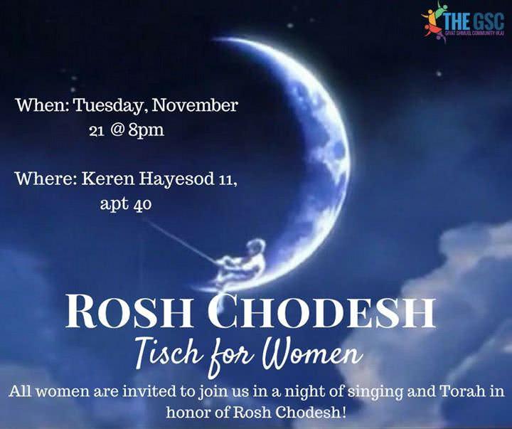 Rosh Chodesh Kislev Women's Tisch 1
