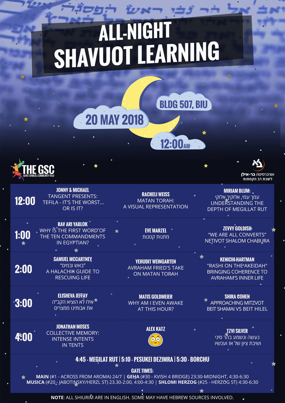 Shavuot All-Nighter 1