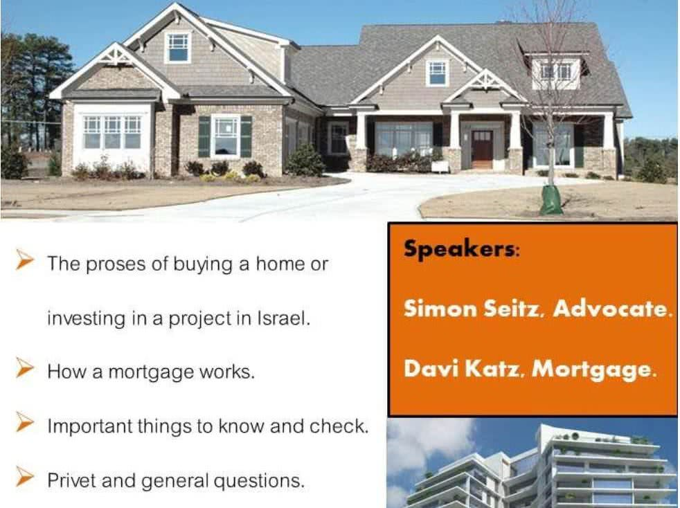 Workshop: Ins and Outs of Buying Property in Israel 2
